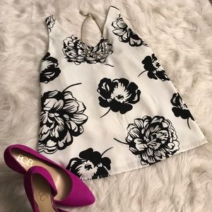 Floral black and white Blouse